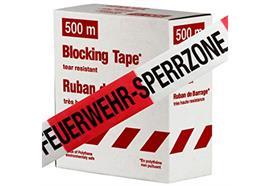 """Absperrband rot/weiss """"FEUERWEHR-SPERRZONE"""", 500m"""
