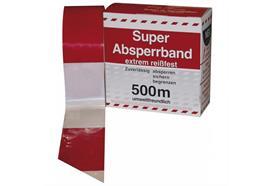 Absperrband rot/weiss, 500m, neutral