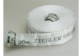 AKTION ZIEGLER Feuerwehrschlauch SILBERFUCHS (weiss), 20m