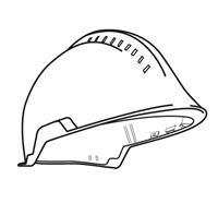 F2 X-trem Helmschale mit Belüftung - Signalgelb Art. Nr. GA3220-JL