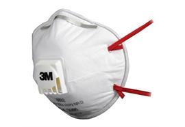Feinstaubmaske 3M© 8832 (Partikelmaske), Schutzart FFP3, mit Ventil (10 Stück/Packung)