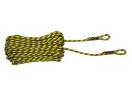 Corde statique EN1891A, jaune avec file rouge
