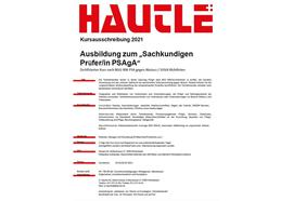 Sachkundigenprüfer/in Absturzsicherungsmaterial 25.03/26.03.2021